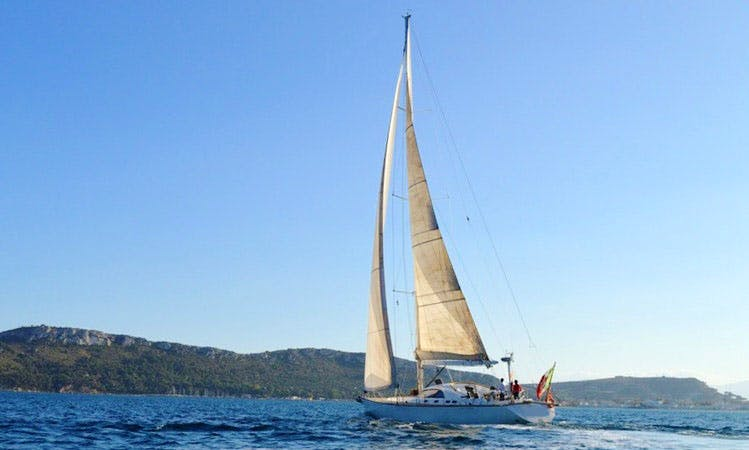 Skippered One-off ITALO 64 ft Sloop Charter for 16 People in Cagliari, Italy