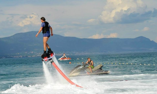 Enjoy Flyboarding In Arbanija, Croatia