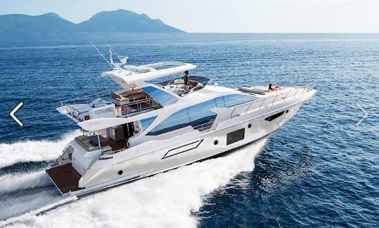 Charter 76' Azimut 72 Fly - Prewi Ii Power Mega Yacht In Šibenik, Croatia