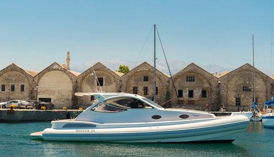 Charter 32' Poseidon Rigid Inflatable Boat In Chania, Greece