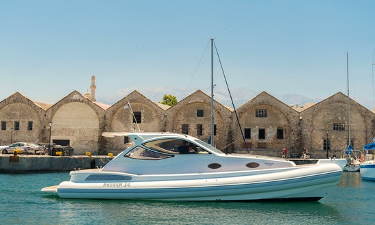 Charter 32' Poseidon Rigid Inflatable Boat In Chania, Greece