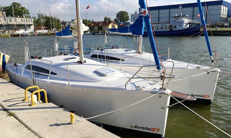 Captained Charter On Antila 27 Sailing Yacht In Tolkmicko, Poland