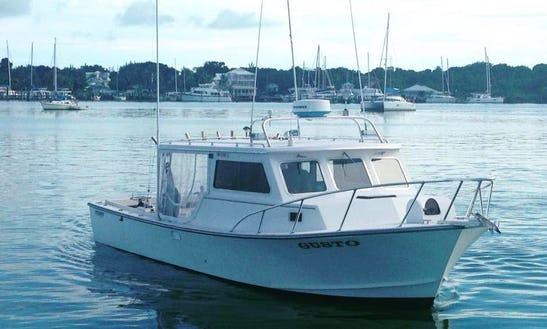 Enjoy Fishing In Central Abaco, Bahamas On 32' Carman Motor Yacht