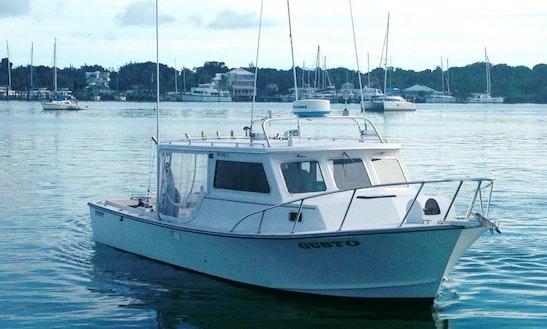 Enjoy Fishing In Central Abaco, Bahamas On 32' Carman Motor Yacht