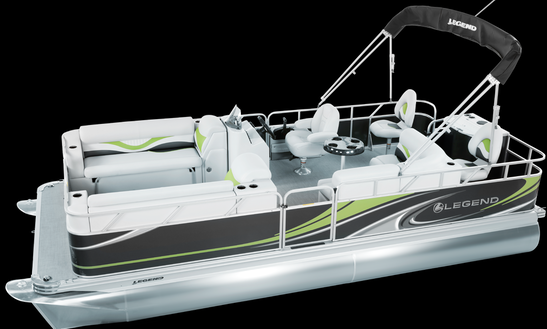 Pontoon Boat Rental In Prince Edward County, Ontario, Canada - Sandbanks