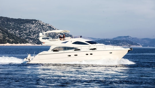 Charter 57' Aicon Fly - Senza Parole Power Mega Yacht In Šibenik, Croatia