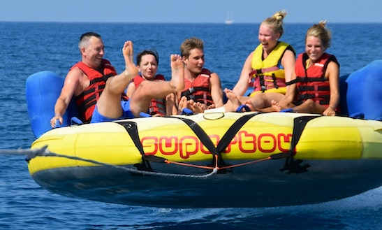 Enjoy Crazy Sofa Rides In Platanias, Greece