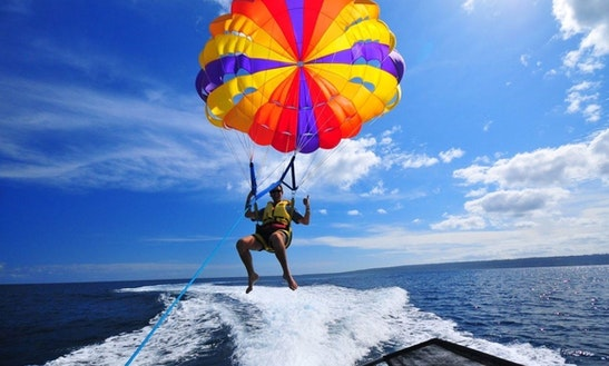 Enjoy Parasailing In Platanias, Greece
