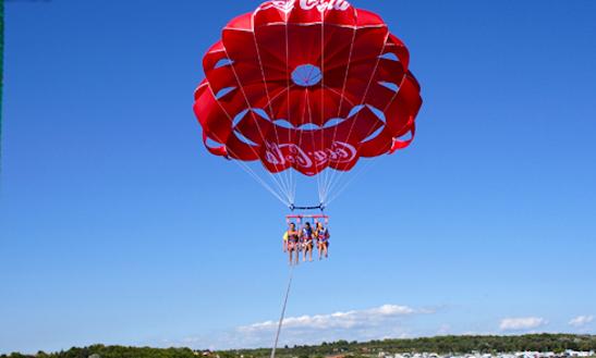 Enjoy Parasailing In Medulin, Croatia