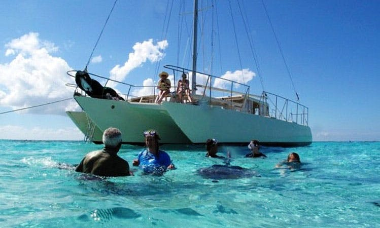 "47' Trimaran ""The Snorkelers Dream"" Charter in Rum Point, Cayman Islands"