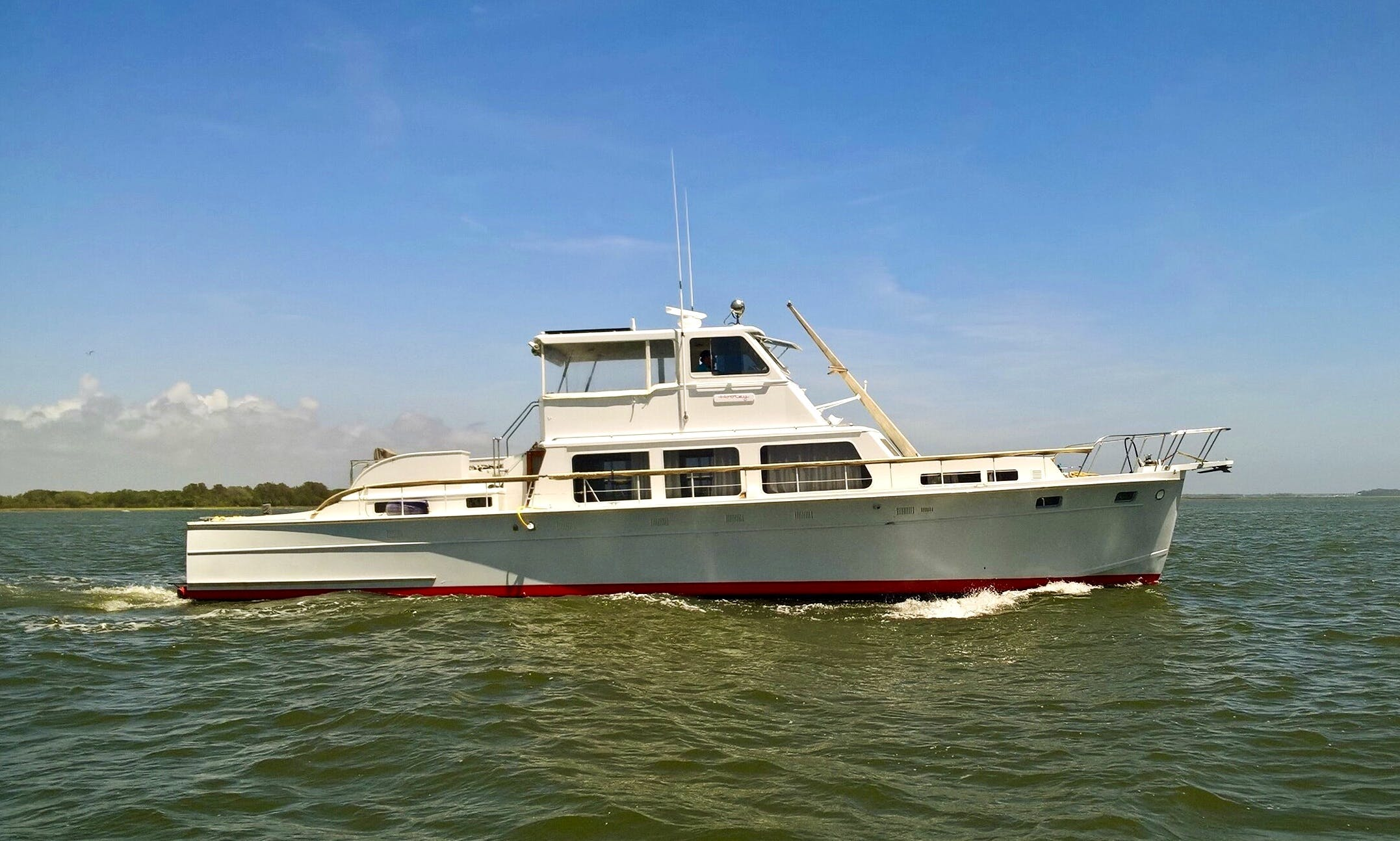 Captained Charter on 58' Motor Yacht in Folly Beach