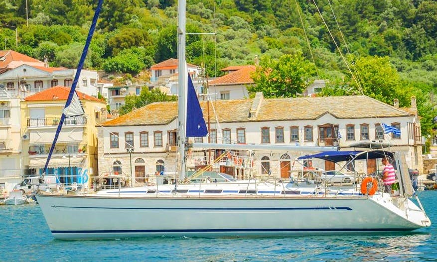 Sailing Daily Cruise with a Bavaria 44 Atlantis in Limenaria, and Thassos