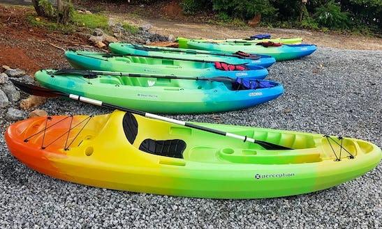 Kayaks On Lake Norman