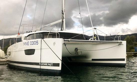 Charter 40' Fountaine Pajot - Mawimbi Cruising Catamaran In Muo, Montenegro