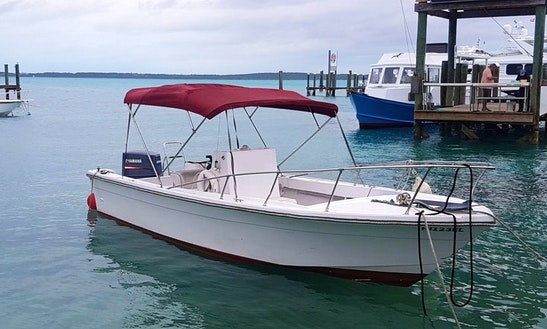 Charter 23' Aquasport Center Console In Dunmore Town, Bahamas