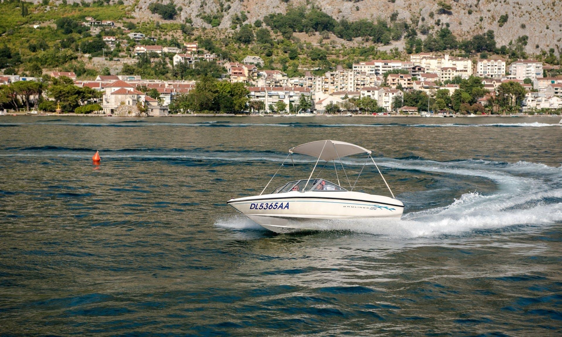 Charter 17' Bayliner Bowrider in Muo, Montenegro