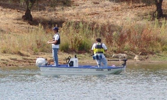 Enjoy Fishing in Moura, Portugal on 12' Jon Boat