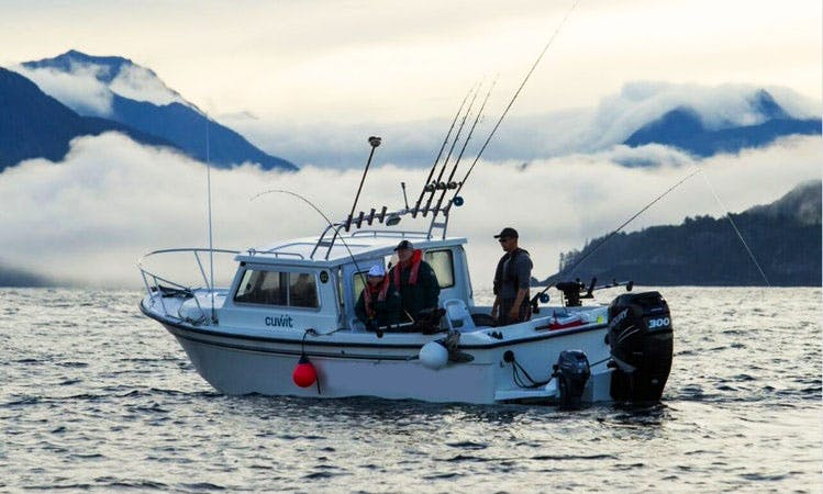 Fishing Adventure on 24' Seawest Boat on Englefield Bay in BC