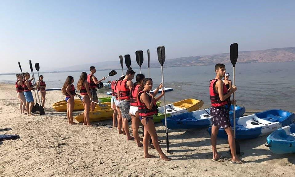 Stable Kayak Rentals in Ein Gev, Israel