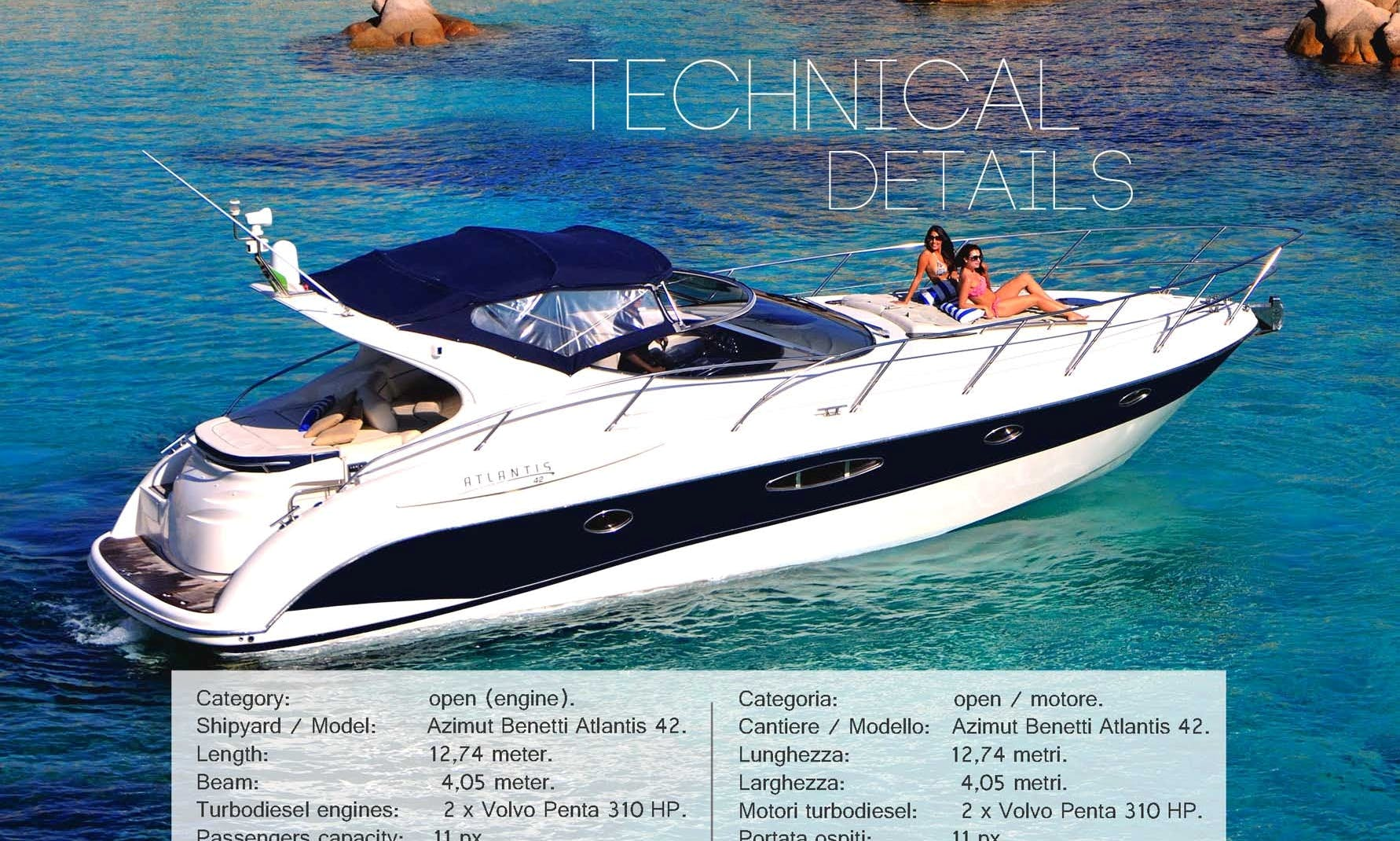 Azimut Atlantis 42' Motor Yacht Rental in Portimão - Hourly