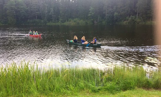 Kayak And Canoe Rental Laivuire.lv, 16' Guide Canoe In Peltes, Latvia