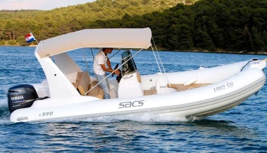 Rent Sacs 590 Rigid Inflatable Boat In Brodarica, Croatia