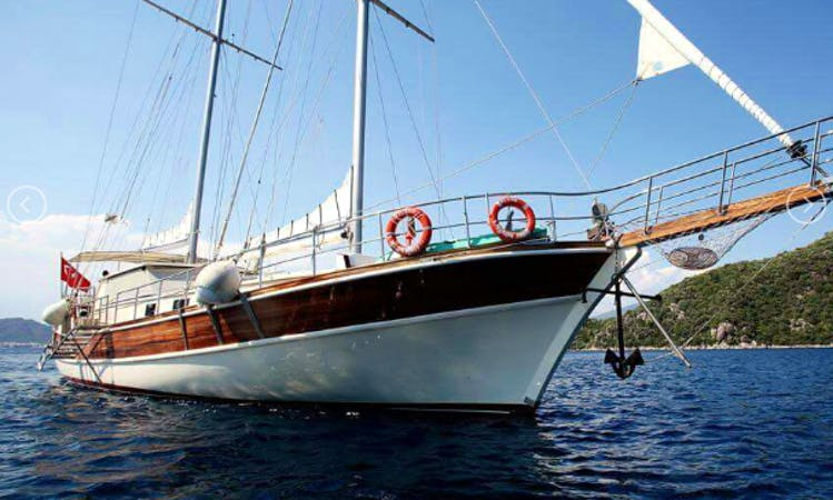 Charter the 79' Azura Sailing Gulet in Muğla, Turkey