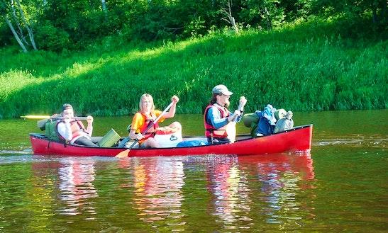 Enjoy Triple Canoe Rentals In Melturi, Latvia