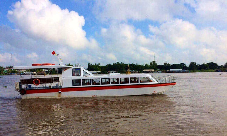 Enjoy cruising Chau doc to Phnompenh and return or charter a boat to explore the Mekong rivers in South of Viet Nam