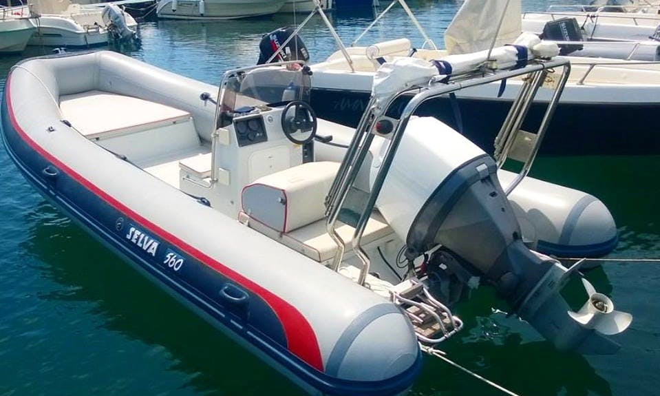 Charter Selvia 560 Rigid Inflatable Boat in Riposto, Italy