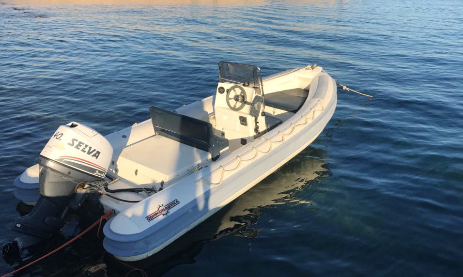 Charter a Rigid Inflatable Boat in Stintino, Italy