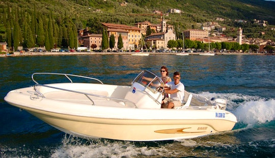 Exciting Motor Boat Charter In Brenzone, Italy For Up To 7 Person