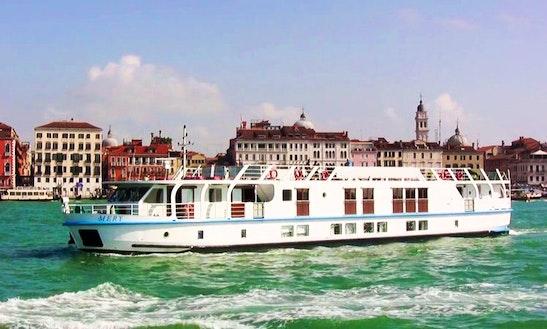 Explore Venice, Italy On 140' La Bella Vita Canal Boat