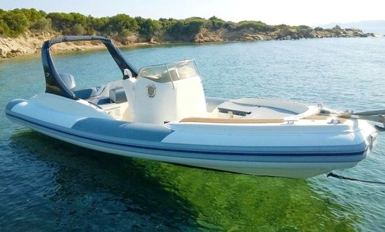 25' Rigid Inflatable Boat Rental In Sardegna, Italy