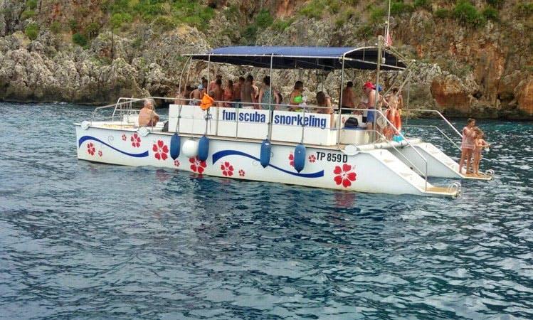 Explore San Vito Lo Capo, Sicily on 37' Power Catamaran