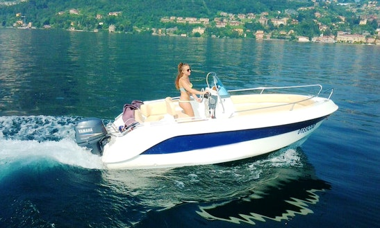 17' Center Console Rental In Menaggio Lombardia, Italy