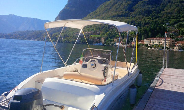 AS 570 Open Deck Boat Rental in Lombardia, Italy
