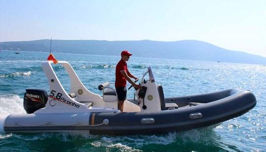 Rent 19' Piranha Rigid Inflatable Boat In Tivat, Montenegro
