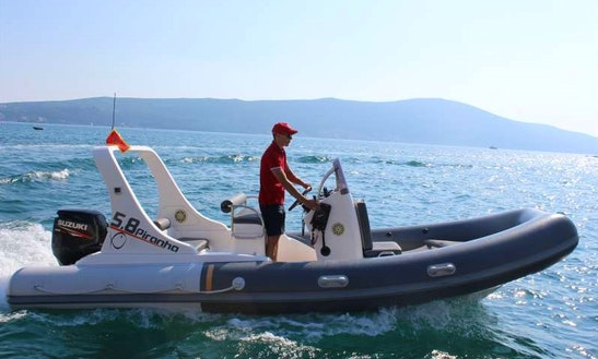 Rent 19' Piranha Rigid Inflatable Boat In Tivat, Montenegro