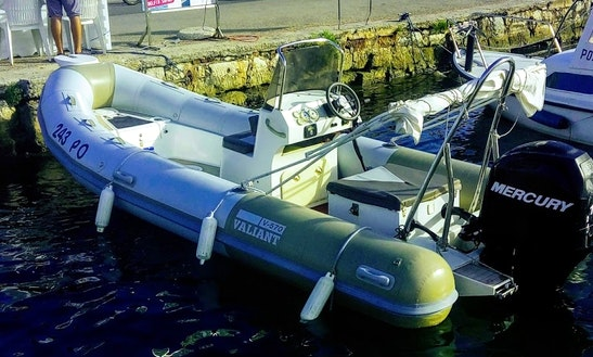 Rent 19' Valiant 570 Rigid Inflatable Boat In Vrsar, Croatia