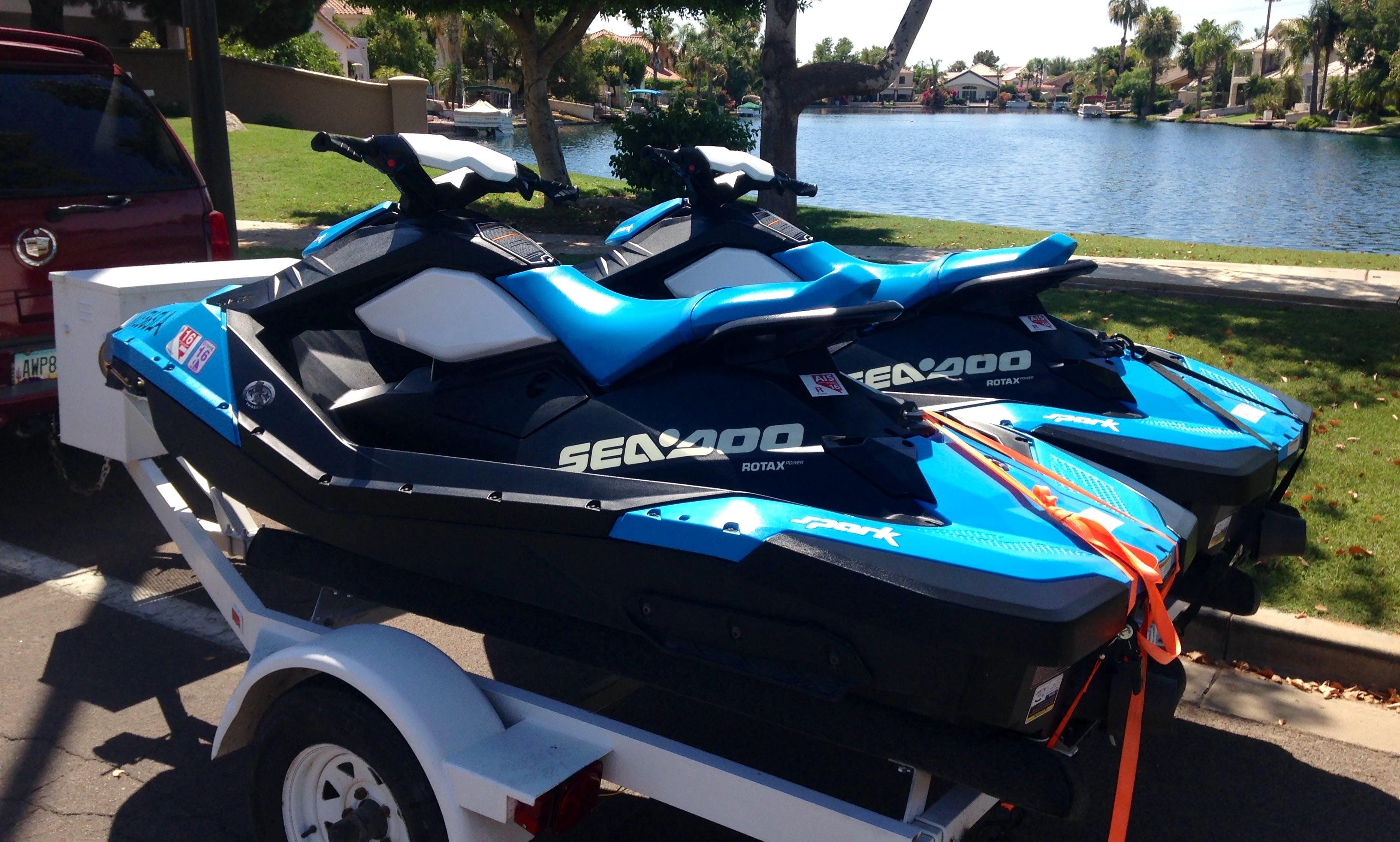 SeaDoo Spark Jet ski Rental in Gilbert, Arizona