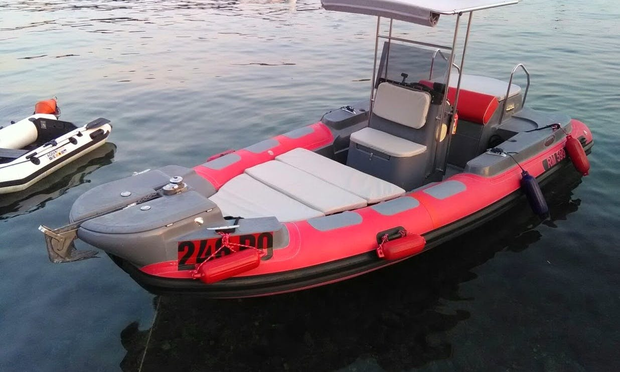Rent a 20' RIS Koturic 599 RM RIB in Vrsar, Croatia
