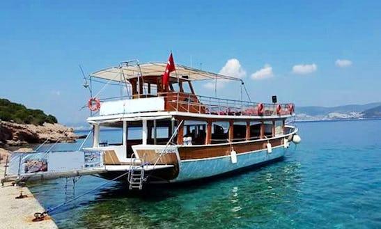 Captain Tours On Passenger Boat In Mugla, Turkey