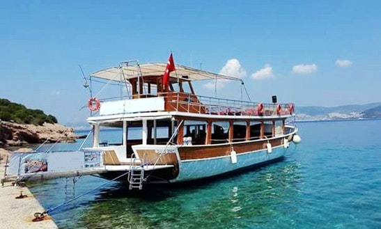 Captain Tours On Passenger Boat In Mugla, Turkey
