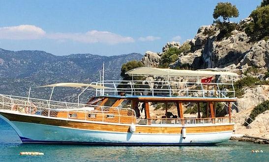 Take Relaxing Day Cruise On This Motor Yacht In Antalya, Turkey