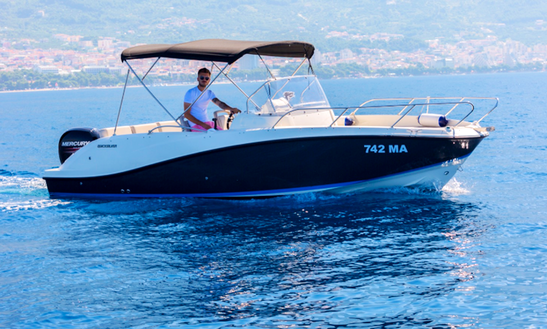Rent 22' Quicksilver 675 Sundeck Center Console In Makarska, Croatia