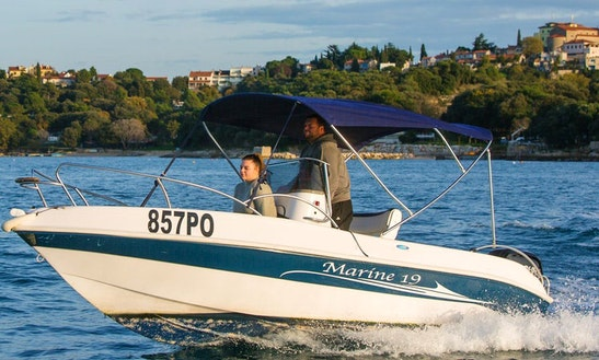 Hire The Marine 19 Center Console For 7 People In Vrsar, Croatia