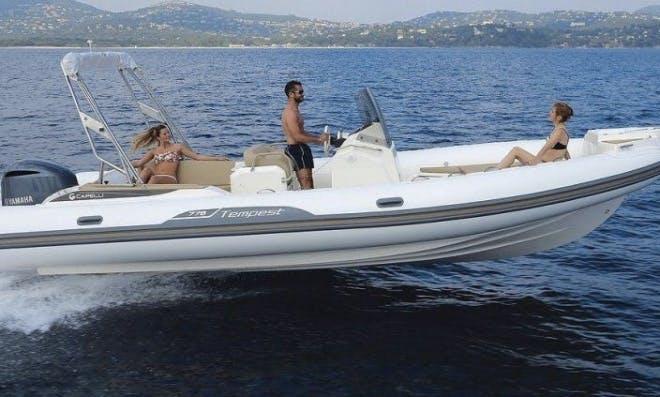 Rent the 24' Cappeli Tempest Rigid Inflatable Boat - Minimum rent is 2 hour!