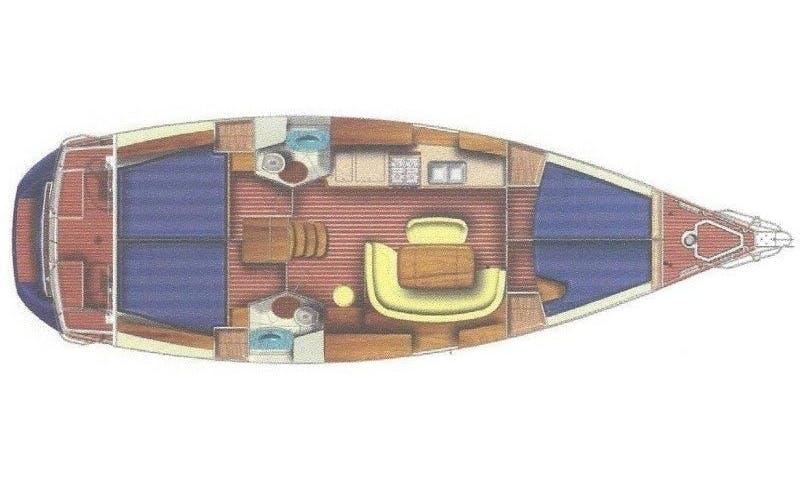 Cruising Monohull rental in Salamina