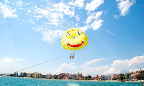 Enjoy Parasailing In Sunny Beach, Bulgaria